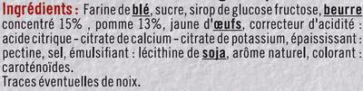 Mini tartelette pur beurre fourrage aux pommes - Ingrédients