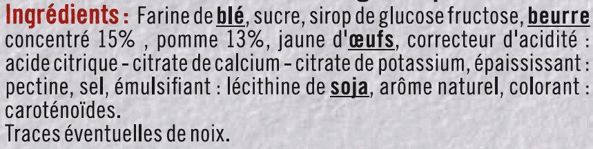 Mini tartelette pur beurre fourrage aux pommes - Ingrédients - fr