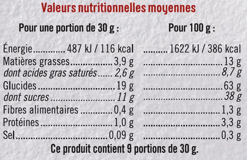 Mini tartelette pur beurre fourrage aux pommes - Informations nutritionnelles - fr