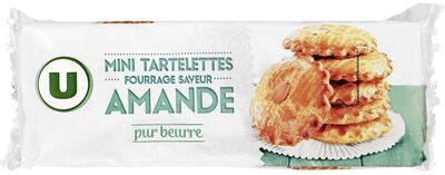 Mini tartelette pur beurre fourrage saveur amande - Product