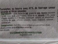 Mini tartelette pur beurre fourrage saveur amande - Ingrediënten - fr