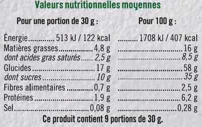 Mini tartelette pur beurre fourrage saveur amande - Voedingswaarden - fr