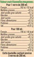 Pur jus Douceur d'agrumes - Valori nutrizionali - fr