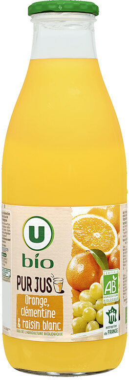 Pur jus orange clementine raisin blanc - Produit