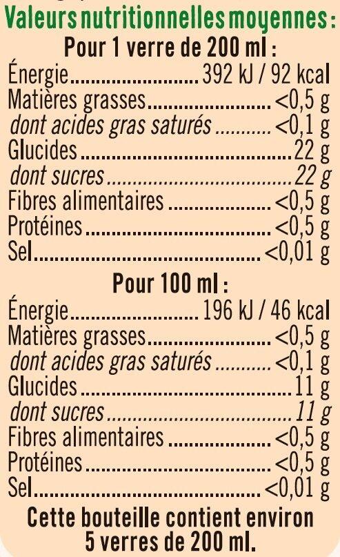 Pur jus orange clementine raisin blanc - Voedingswaarden - fr
