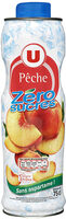 Boisson concentré pêche zéro sucres avec édulcorants - Product