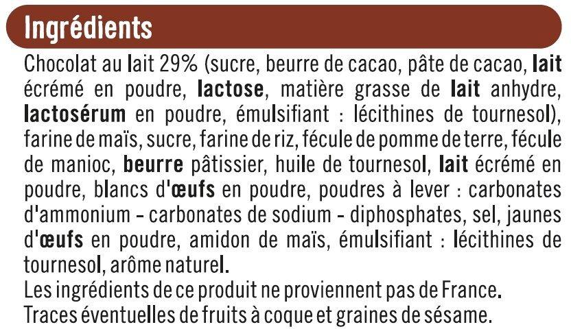 Sablés nappés chocolat au lait sans gluten - Ingredients