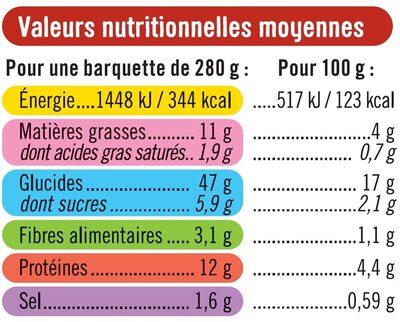 Pennes sauce bolognaise sans gluten - Informations nutritionnelles - fr