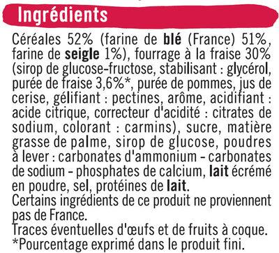 Biscuits goût fraise - Ingredients - fr