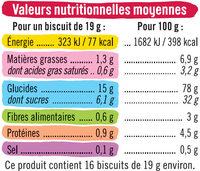 Biscuits goût fraise - Nutrition facts - fr