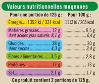 Girasoli 4 Fromages - Valori nutrizionali - fr