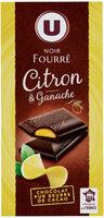 Noir fourré citron et ganache - Produit
