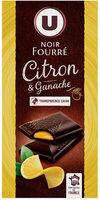 Noir fourré citron et ganache - Produit - fr