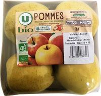 Pomme golden delicious, 4 fruits calibre 136/165 catégorie 2 - Produit - fr
