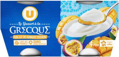 Yaourt à la grecque sur lit de mangue et passion - Product - fr