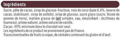 Noir fourré noix de coco - Ingrédients - fr