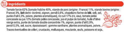 Tomates farcies et riz cuisiné - Ingrédients - fr