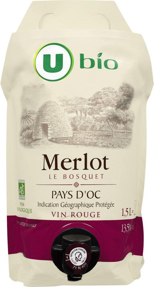 Vin rouge Pays d'Oc Merlot IGP Le Bosquet Bio - Produit - fr