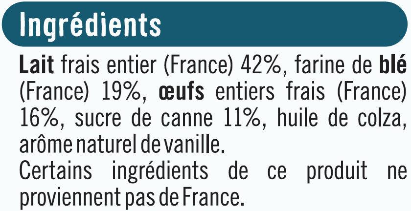 Petites crêpes au sucre de canne - Ingrédients - fr