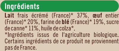 Petites crêpes bretonnes bio - Ingrédients - fr