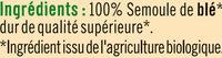 Couscous grains moyens - Ingrédients - fr