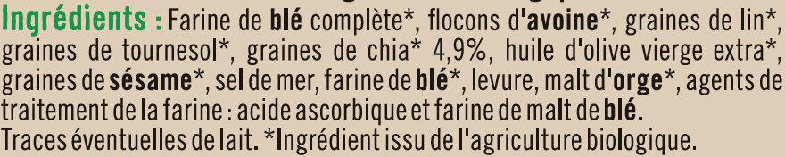 Crackers au chia - Ingredients - fr