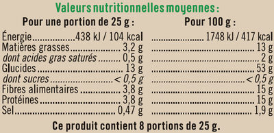 Crackers au chia - Nutrition facts - fr