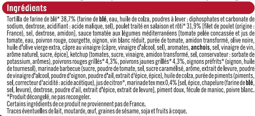 Fajitas de poulet rôti à la méxicaine - Ingrediënten - fr