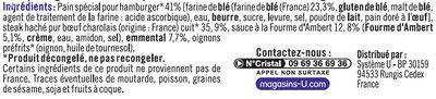 Burger Le Charolais fromager  boeuf sauce Fourme d'Ambert et emmental - Ingredients