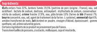 Quiche Lorraine la french, spécial micro-ondes - Ingrediënten