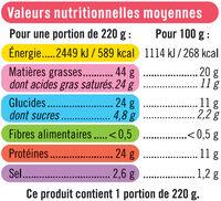 Quiche Lorraine la french, spécial micro-ondes - Informations nutritionnelles