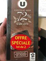 Chocolat noir 72% - Product - fr