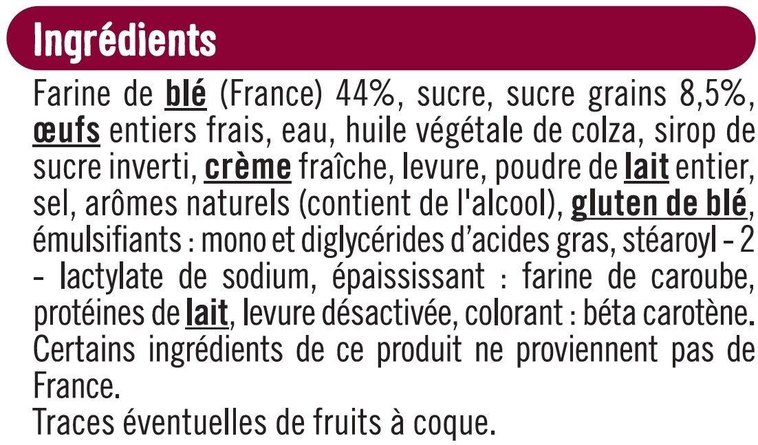 Brioche tressée aux perles de sucre - Ingredients - fr