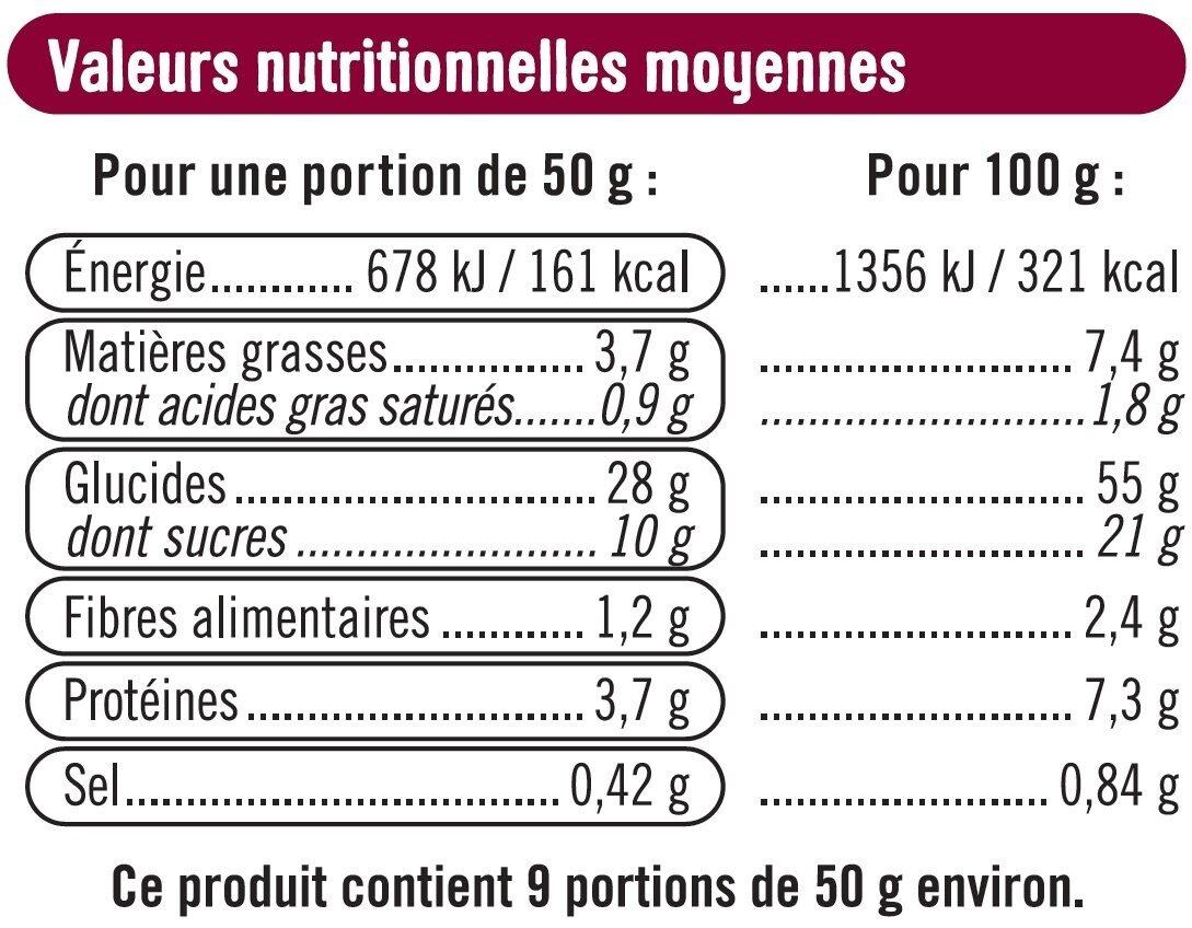 Brioche tressée aux perles de sucre - Nutrition facts - fr