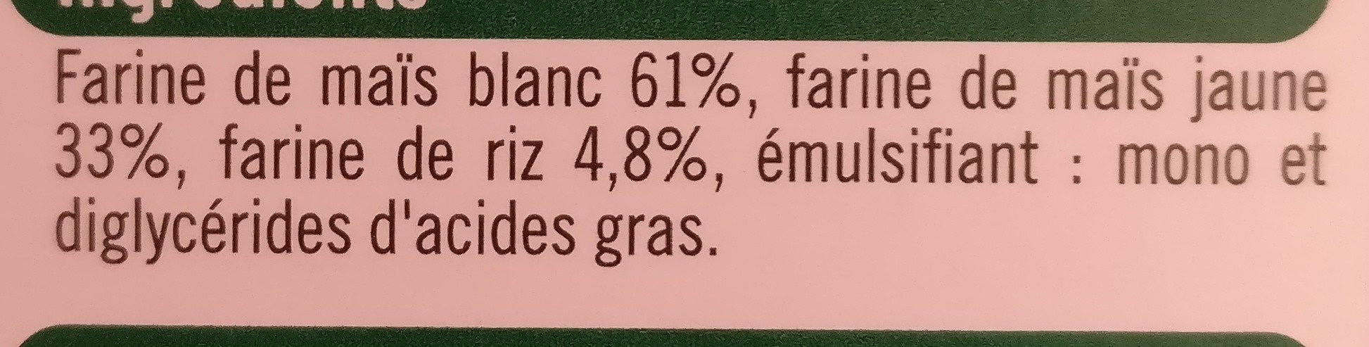 Penne - Ingrédients