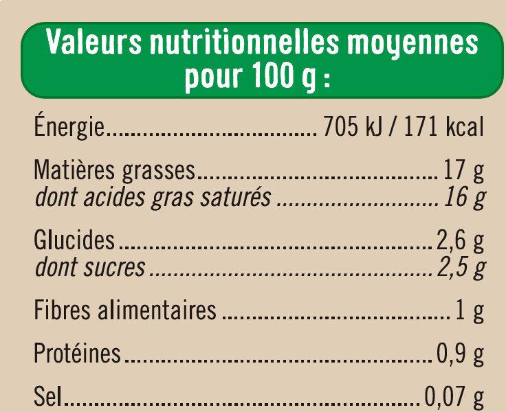 Lait de coco issu de l'agriculture biologique Bio - Voedingswaarden - fr