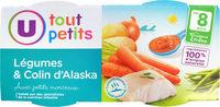 Bols légumes & colin d'Alaska 8m - Produkt - fr