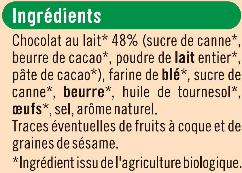 Bâtonnets au chocolat au lait - Ingrédients - fr