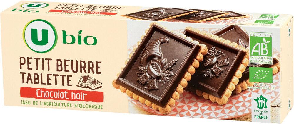 Tablette petit beurre au chocolat noir - Produit - fr
