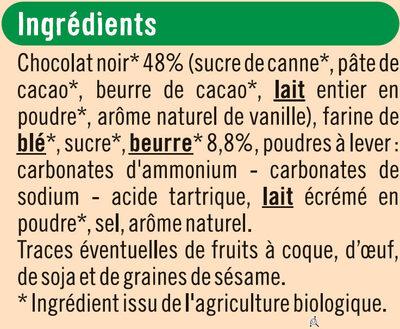 Tablette petit beurre au chocolat noir - Ingrédients - fr