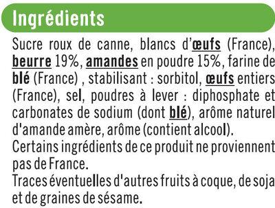 Mini financier aux amandes pur beurre - Ingrédients - fr