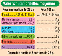 Mini Moelleux Framboise - Informations nutritionnelles