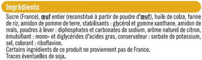 Moelleux citron - Ingrediënten - fr