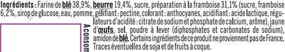 Sablés pur beurre à la framboise - Ingrédients