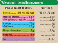 Céréales quinoa lentilles à l'huile d'olive 2% - Nutrition facts
