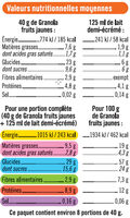Muesli granola fruits jaunes - Nutrition facts - fr