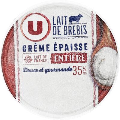 Crème fraîche épaisse de brebis 35% de MG - Produit - fr