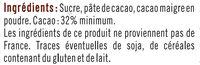 Vermicelles chocolat - Ingrédients - fr