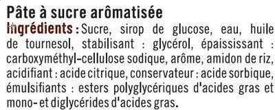 Pâte à sucre paton blanc - Ingrediënten - fr