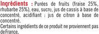 Nectar fraise rhubarbe édition limitée - Ingrédients
